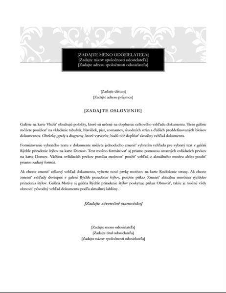 List (štýl čiernej kravaty)