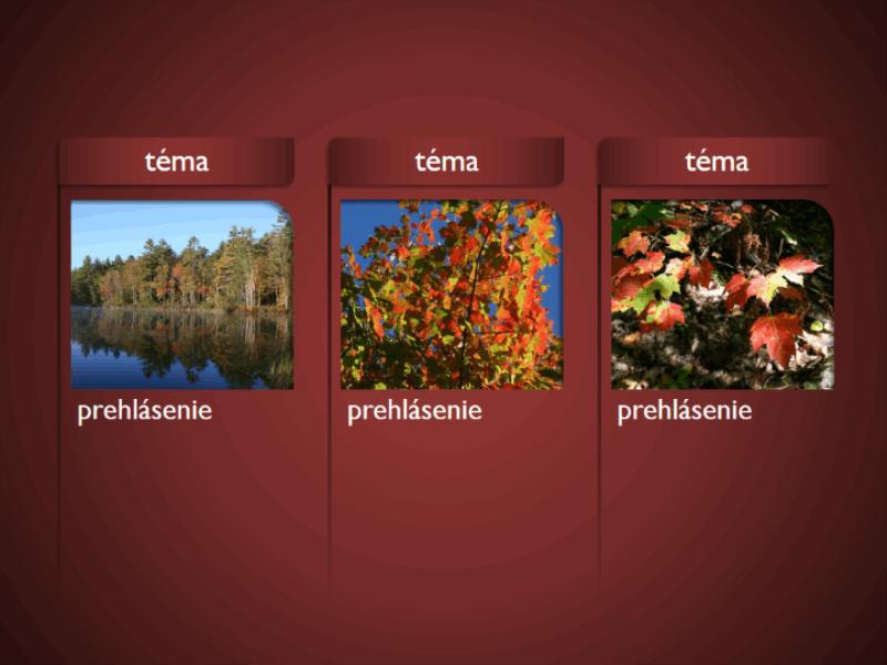Grafické prvky SmartArt s obrázkami na červenom pozadí