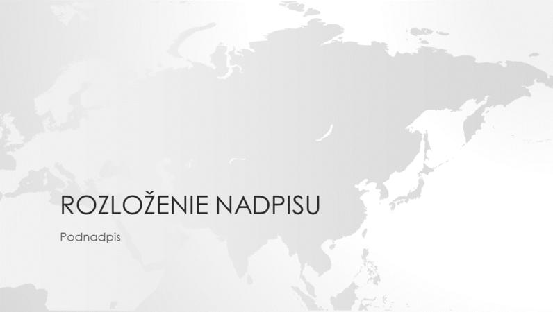 Rad máp sveta, prezentácia svetadielu Ázia (širokouhlý formát)