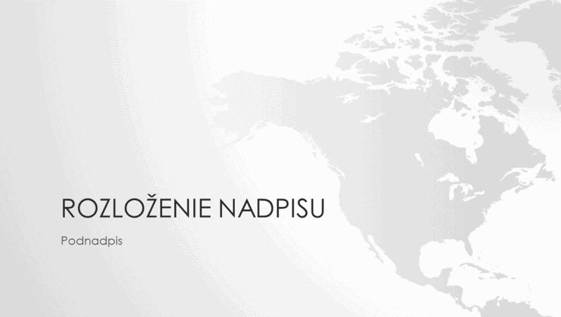 Rad máp sveta, prezentácia kontinentu Severná Amerika (širokouhlý formát)