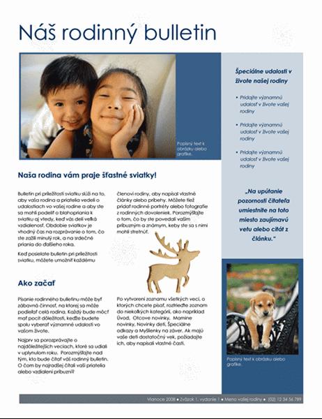 Rodinný vianočný bulletin