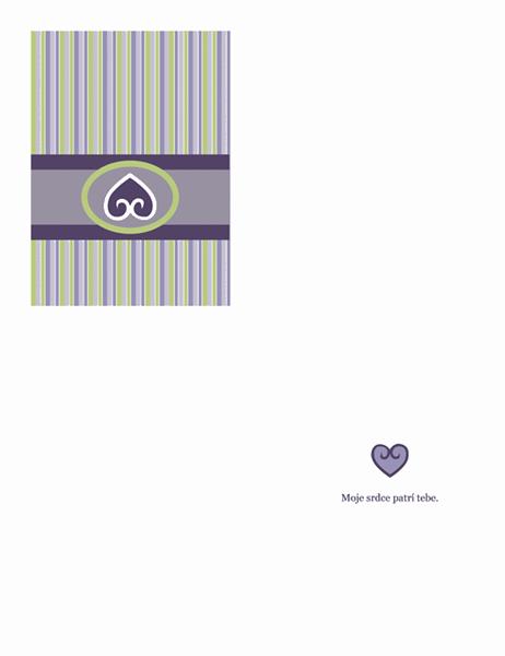 Zamilovaná pohľadnica (fialový dizajn)