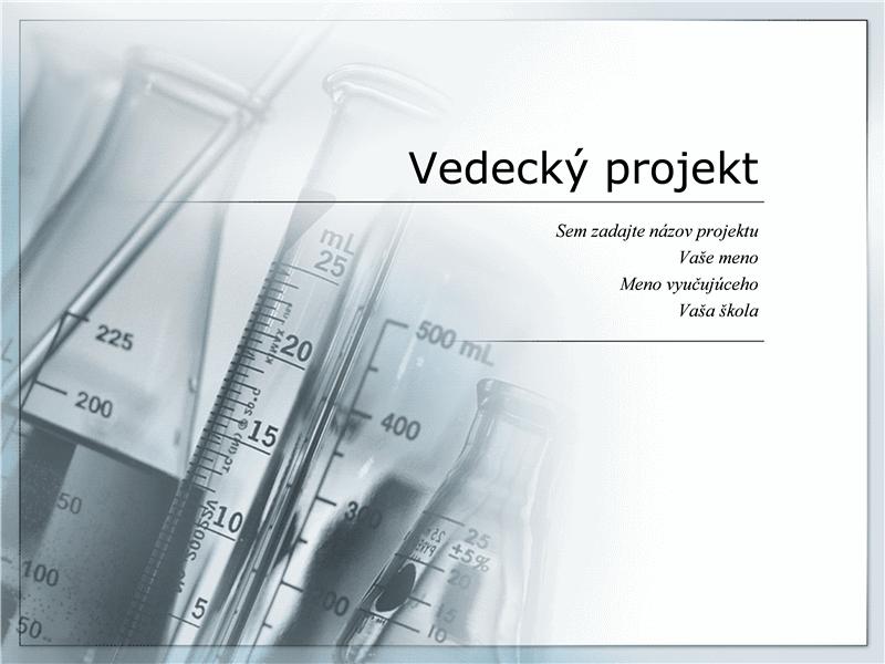 Prezentácia pre vedecký projekt