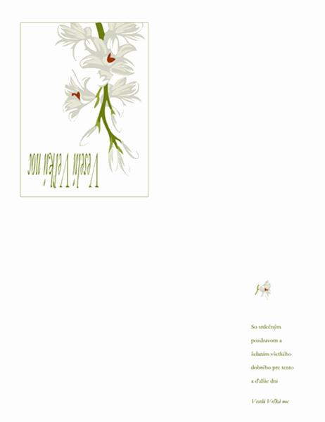 Veľkonočná pohľadnica (s kvetmi)