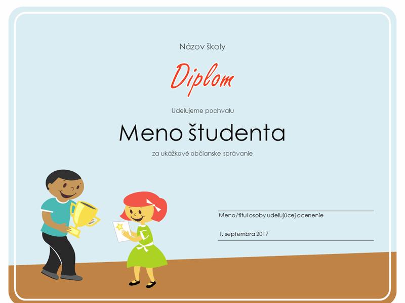 Diplom (pre žiakov základných škôl)