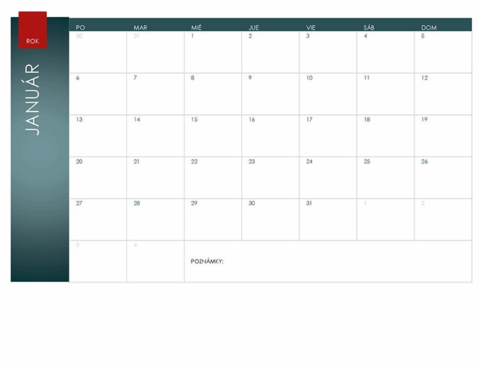 Kalendár na ktorýkoľvek rok (iónový motív)