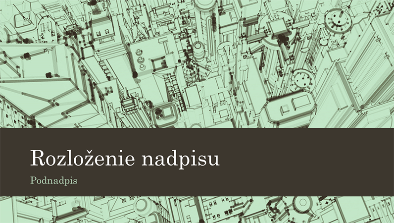 Prezentácia so skicou mestských kancelárskych budov na pozadí (širokouhlá)