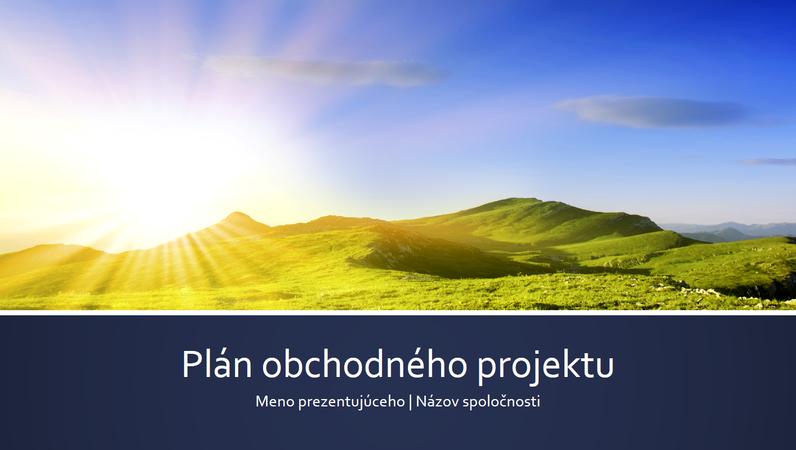 Prezentácia plánu obchodného projektu (širokouhlý formát)