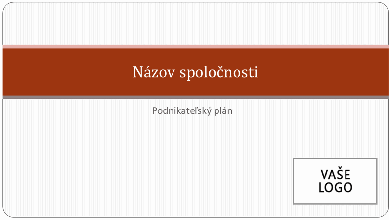 Prezentácia podnikateľského plánu