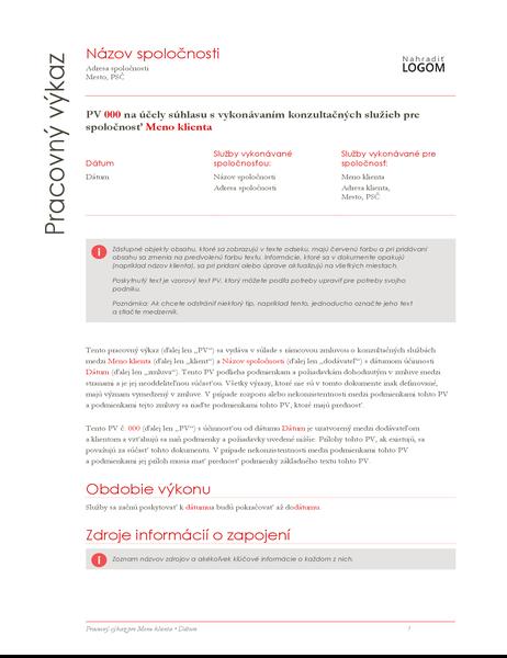 Výkaz práce (návrh v červenej farbe)