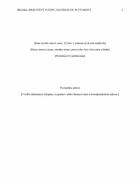 Správa vštýle APA (6. vydanie)