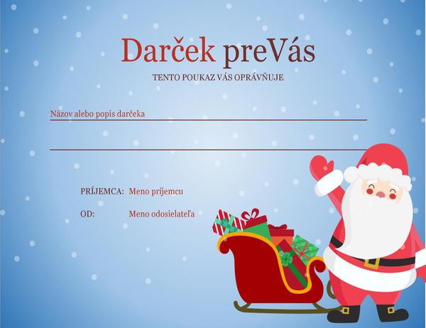 Vianočný darčekový poukaz (vianočný návrh)