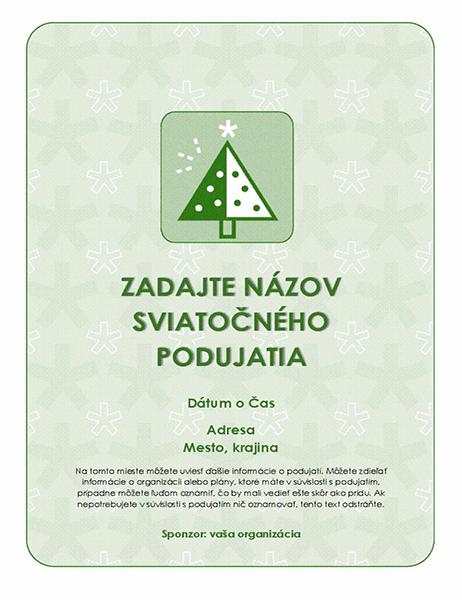 Leták osviatočnom podujatí (so zeleným stromom)