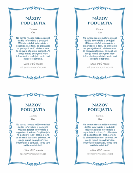 Pozvánky na podujatie (4 na strane)