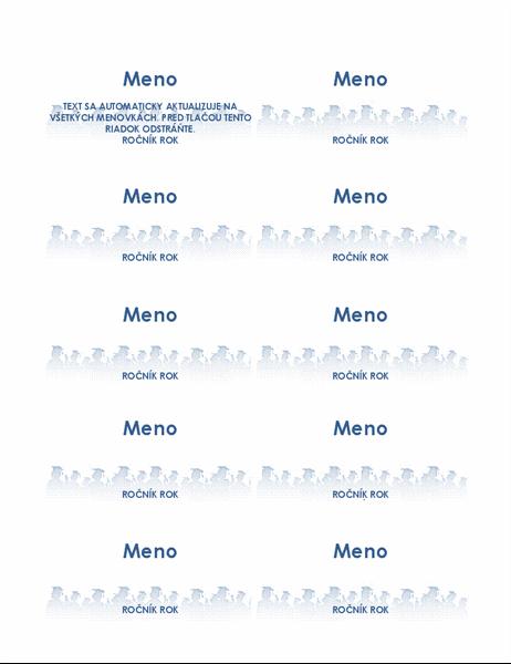 Menovky pre absolventov (10 na strane)