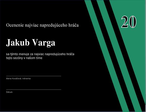 Ocenenie najviac napredujúceho hráča