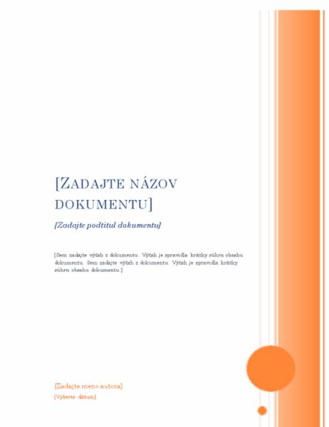 Správa (zdobený vzhľad)