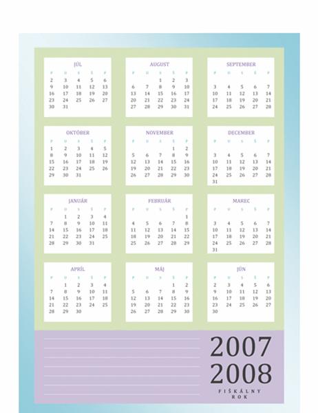 Kalendár fiškálneho roka 2007-2008 (po-pi)