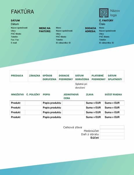 Predajná faktúra (návrh so zeleným prechodom)