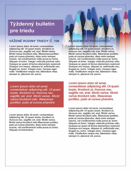 Bulletin pre triedu
