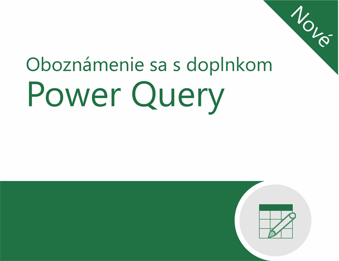 Kurz doplnku Power Query