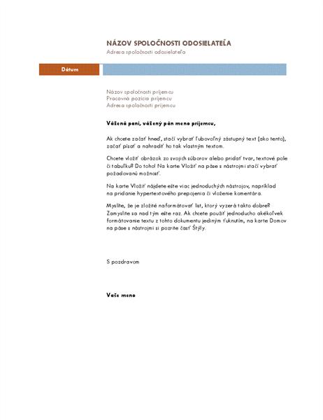 Obchodný list (motív Medián)