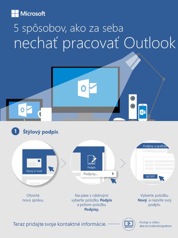 5 spôsobov, ako za seba nechať pracovať Outlook