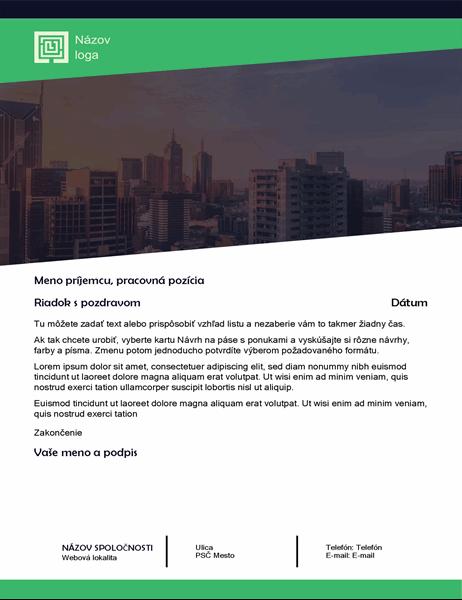 Obchodný list (návrh v lesnej zeleni)