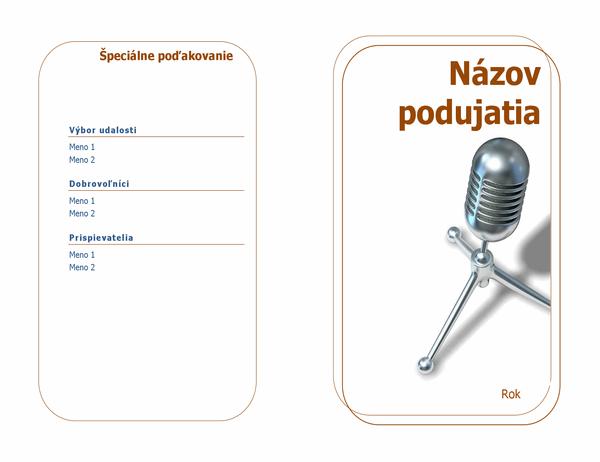 Program udalosti (zložený napoly)