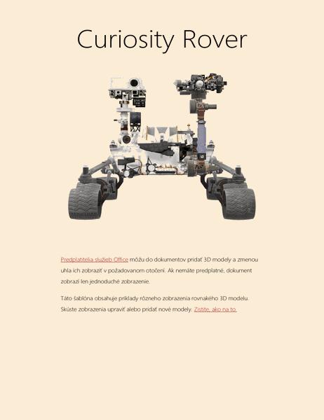 Vedecká správa vo Worde v3D (model vozidla Mars Rover)