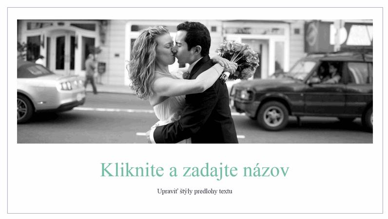 Jednoduchý svadobný fotoalbum