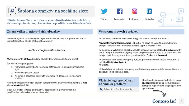 Šablóna obrázkov na sociálne siete