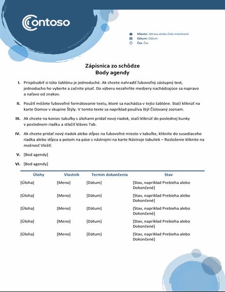Zápisnice zo schôdze smodrými kruhmi