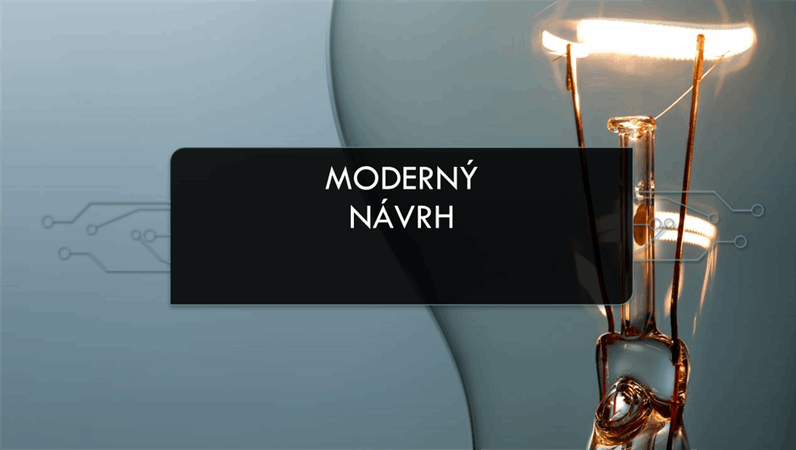 Moderný návrh selektrickým obvodom