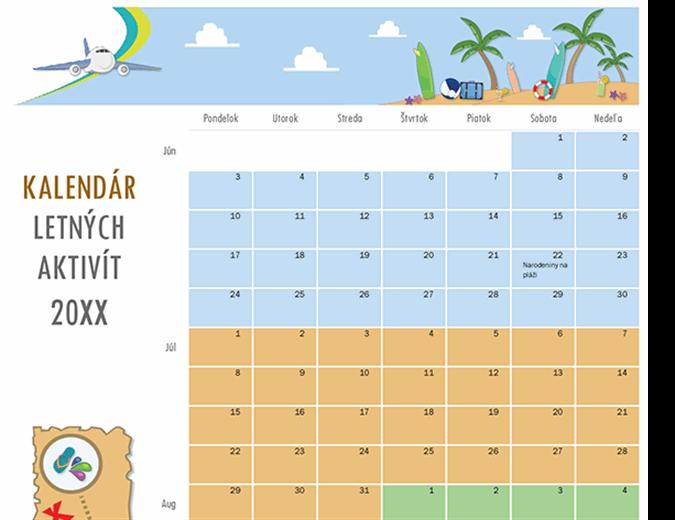 Kalendár letných aktivít