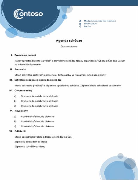 Agenda smodrými kruhmi