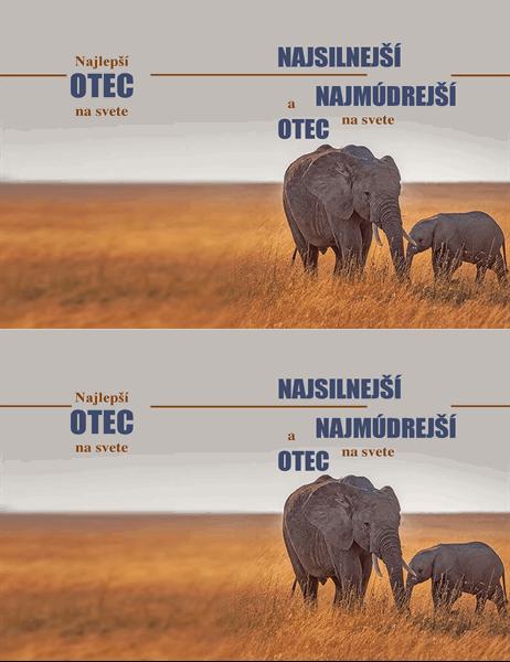 Karta ku Dňu otcov Múdry slon