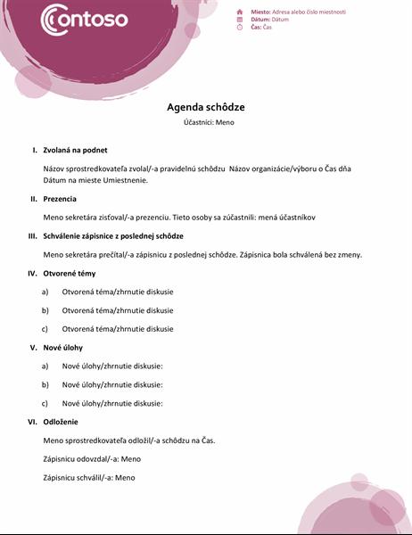 Agenda zbalíka ružových motívov