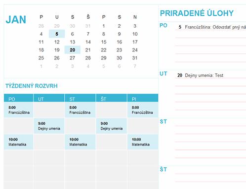 Študentský kalendár