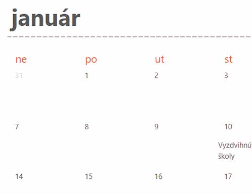 Nekonečný kalendár skartami (biela farba)