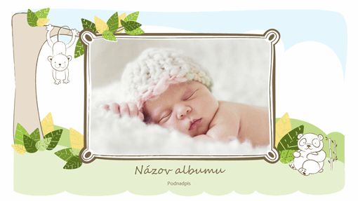 Fotoalbum pre dieťatko (kresby zvierat, širokouhlý formát)