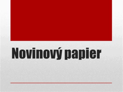 Novinový papier