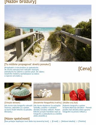 Cestovná brožúra s fotografiami