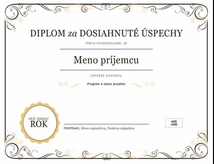 Diplom za dosiahnuté úspechy