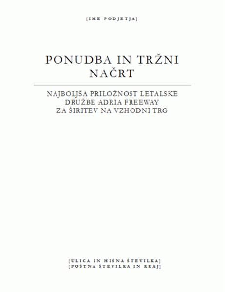 Poslovno poročilo (elegantna tema)