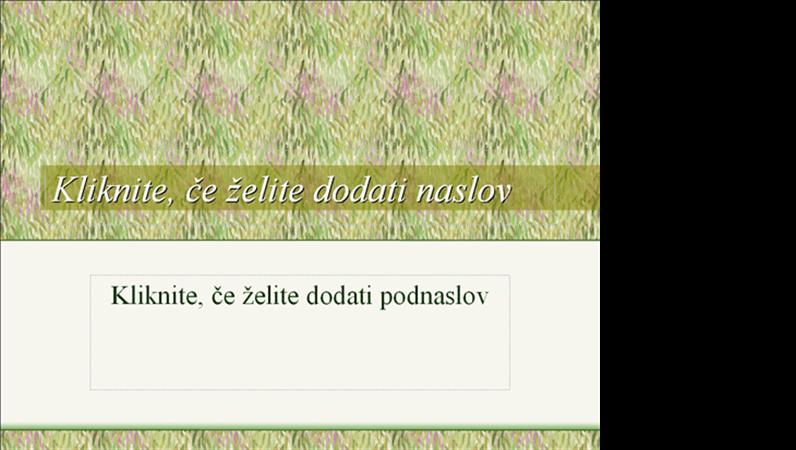 Oblikovna predloga s travnikom