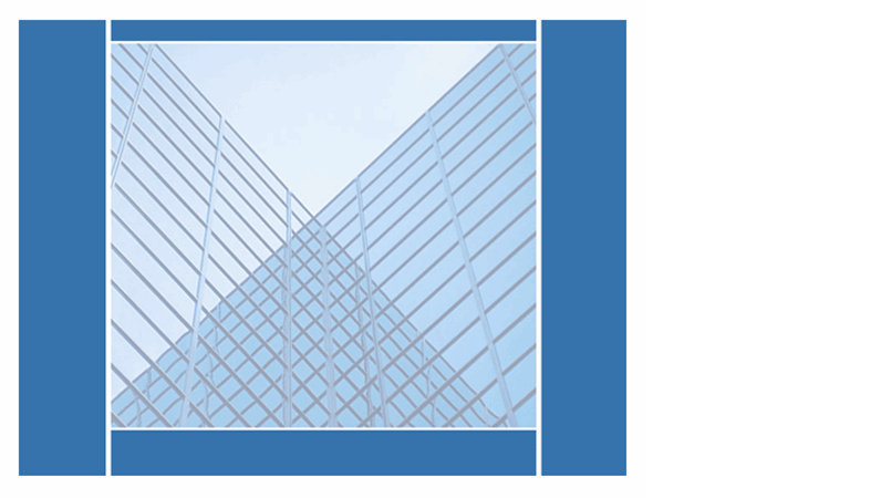 Oblikovna predloga s prezrcaljenimi stavbami