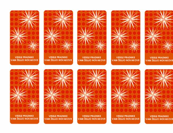 Oznake za darila (prilagojena snežinka; primerno za Avery 5871, 8871, 8873, 8876 in 8879)