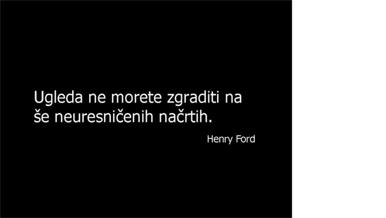 Diapozitiv s citatom Henryja Forda