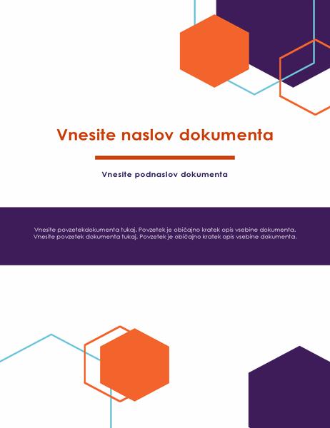 Poročilo (načrt za vodje)